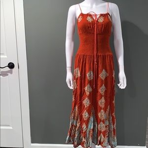 Fashion terminal WOMANS orange dress SZ.O/S